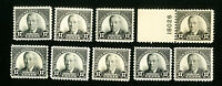 US Stamps # 623 F-VF Unused w/o Gum Lot of 9 Catalog Value $81.00