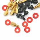 10Pcs Golden Motherboard Riser Silver Quality High 6-32-M3 6.5mm Washers Red