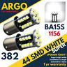 2x P21W BA15S 44 SMD LED XENON WHITE VW GOLF MK4 REVERSE REAR TAIL LIGHT BULBS