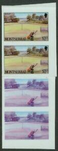 Montserrat 1986 Golf $1.15 glossy plastic PROOF STRIP
