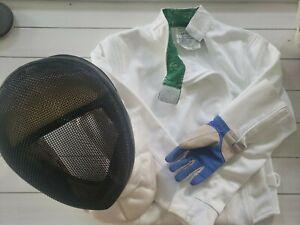 AF Absolute Fencing Gear Helmet Face Mask, Jacket and Glove