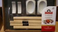 Set sushi ardesia 9 pezzi cucina giapponese mangiare sushi bacchette bamboo