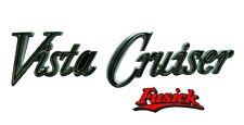 "1970-1972 Olds Vista Cruiser Front Fender ""Vista Cruiser"" Emblem Script 1971"