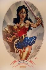 "Wonder Woman Amazons 11"" X 17"" Signed Art Print SDCC comic con Michael Dooney"