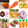 Newest Dog Puppy Pet Chew Squeaky Sound Plush Vegetable Chicken Carrot Play Toys