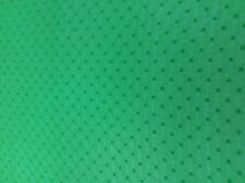 VIVID GREEN GEORGETTE DRESS FABRIC - SELF COLOURED EMBROIDERED SPOTS  (A24)