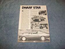"1972 Chevy Vega GT Vintage Pro Street Article ""Dwarf Star"""