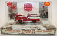Code 3 Classics 1/64 Scale Model Crown Firecoach Engine 12955 Honolulu Fire Dept