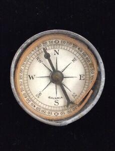 Vintage Small Pocket Compass - Bavaria - Mirrored Back - Free Shipping