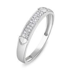 Wedding Band 14K White Gold Over 0.65Ct Round Cut Diamond Women's Engagement