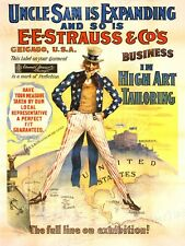 1898 Strauss & Co. Chicago Clothing Advertising Poster - 24x32