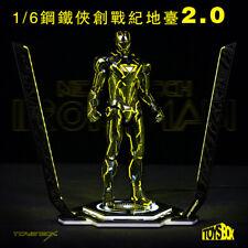 Toy-Box TB078 1/6 LED Light Iron Man Legacy 2.0 Platform 12'' Figure Scene Site