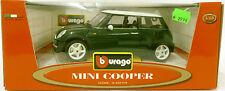 Bburago 34079 | Mini Cooper (brit.green/weiß) | 1:18 Diecast | Neu