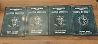 Warhammer 40k 8th Ed Index Xenos Chapter Approved 2017 2018 2019Lot 4 Rule Books