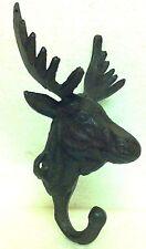 Metal Moose Coat Hanger Single Hook - Log Cabin, Lodge Decor, Hunting, Primitive