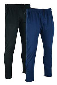 Mens Track Pants Tracksuit Bottoms Joggers Plain Gym Slim Fit Activewear Trouser