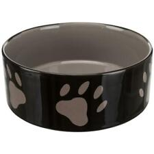 Trixie Dog Feeding Food/Water Bowl Ceramic, 1.4 L, Dishwasher Safe - Brown/Cream