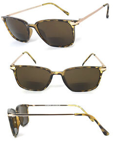 1 or 2 Pair(s) Fashion Square Inner Bifocal Tinted Sun Reader Reading Sunglasses