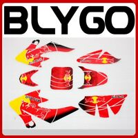 RED Decals Graphic Sticker Kit CRF50 Style Fairing 125cc PIT PRO Trail Dirt Bike