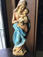 Vintage Italy Mary & Baby Jesus Nativity Figurine S 201 Simonetti Fontanini 12�