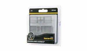 """Woodland Scenics A2983 HO Chain Link Fence with 2 Gates 26.4""""  MODELRRSUPPLY"""