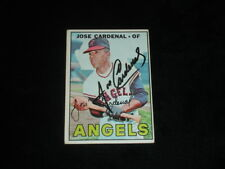 1967 Topps Jose Cardenal Autographed Baseball Card-California Angels-#193