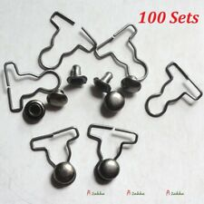 1/6 Bjd DIY Material 4mm Mini Overall Suspender Buckle DARK GREY (100 Set)