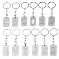 Personalised Initial Keyring Alphabet A-Z Letter Key Chain Stainless Steel Ring