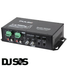 PULSE SDA40 2x20W Compact Class D Stereo Install Wall Mountable Amplifier PA Amp