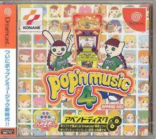USED KONAMI POP ' N POP AND N MUSIC 4  SEGA DREAMCAST  JAPAN JP JAPANESE