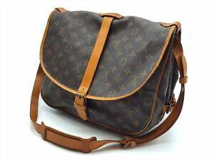 100%Auth LOUIS VUITTON Saumur 35 Vintage Monogram Shoulder Crossbody Bag M42254