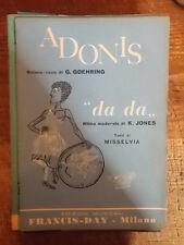 "SPARTITO ""ADONIS"" + ""DA DA"""