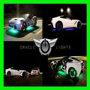 WHITE LED Wheel Lights Rim Lights Rings by ORACLE (Set of 4) for SATURN MODELS