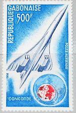 GABON GABUN 1975 576 C172 Concorde Globe Supersonic Jet Flugzeug Airplane MNH