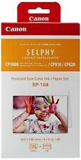 CANON Selphy RP-108 Papier Photo 10x15 cm