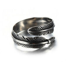 Feather Ring Silver Plated Vintage Arrow Opening One Size *UK AND FAST SELLER*