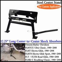 Adjustable Center Stand For Harley FLT/ FLTR Road Glide FLHT Electra Glide 80-09