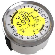 6in1 85mm Car GPS Speedometer Tachometer Gauge Water Temp Fuel Level Volt Meter