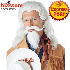 W618 Buffalo Bill Wild Cowboy Western Facial Hair Adult Costume Wig and Goatee