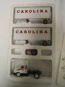 Winross Carolina Freight International 8300 Tractor w/ Doubles & Dolly boxed VGC