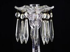 Heisey Old Williamsburg 12 Prism Bobeche & Prisms, Antique Candelabra Part, Rare