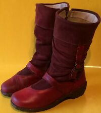 EL NATURALISTA  Ladies High Boots .... Leather ..... 41 .... burgundy-red