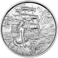 Elemetal 2 oz Privateer Ultra High Relief Silver Round - The Siren (P2)