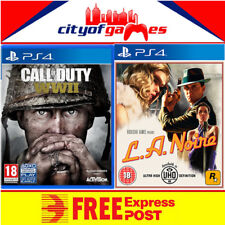 L.A. Noire LA Noire and Call of Duty WWII Game Bundle PS4 New & Sealed In Stock
