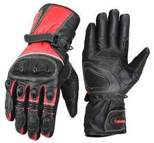 Gants noir résistant à l'eau en cuir pour motocyclette Homme