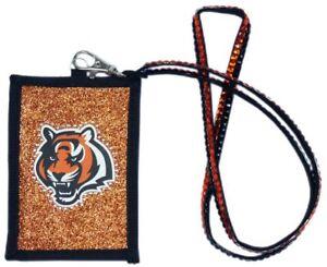 Cincinnati Bengals Beaded Lanyard I.D. Wallet