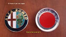 2 Stemma ALFA ROMEO 147 156 159 GIULIETTA  MITO Logo Fregio Anteriore Posteriore