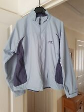 Helly Hanson Pale Blue Multi Casual Jacket, Lightweight, Size M (12/14) VGC
