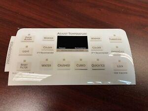 GE Refrigerator Dispenser Overlay only for WR55X10861, Beige color, OEM New