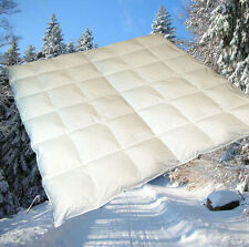 100% sibirische Daunen Winterbett Daunendecke Daunenbett 200x200 cm waschbar